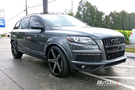 audi q7 modified audi q7 custom wheels lexani r three 22x et tire size