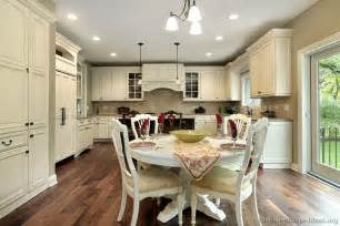 Antique White Kitchen Table White Cabinets Kitchen Design House Design And Decorating Ideas