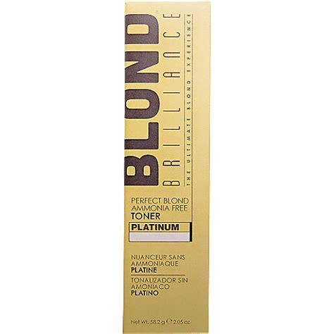 blonde brillance platinum toner blond brilliance perfect blond ammonia free toner