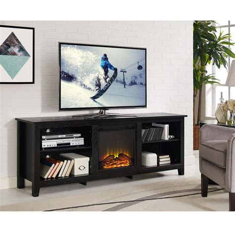 70 Tv Stand With Fireplace by Walker Edison 70 Inch Tv Stand With Electric Fireplace