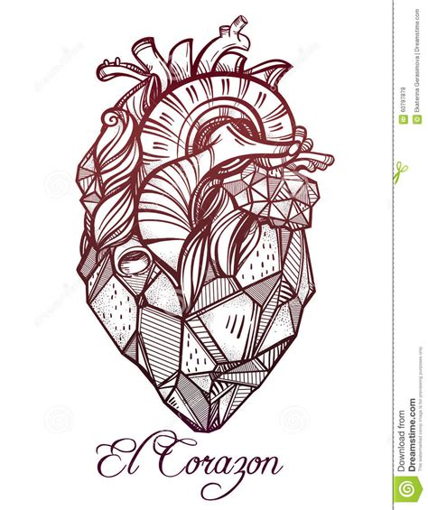 heart of stone vector illustration stock vector image