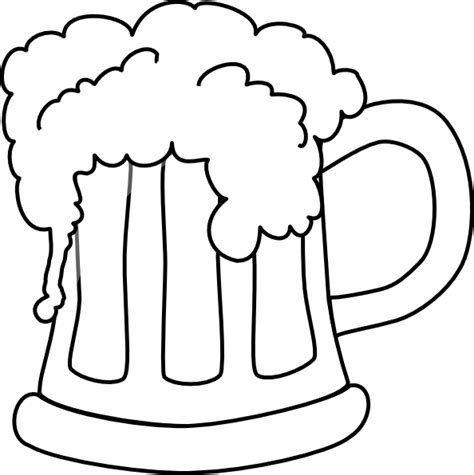 beer cartoon black and white beer mug outlined 2 clip art at clker com vector clip