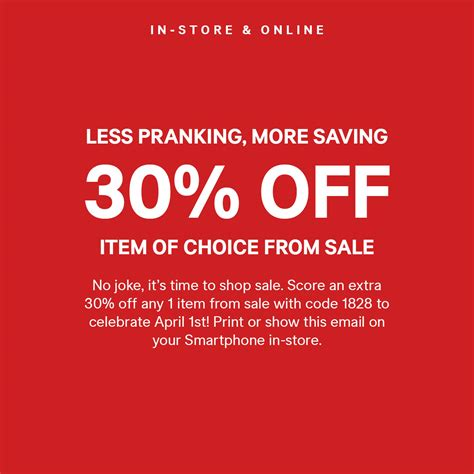 h&m coupons free shipping