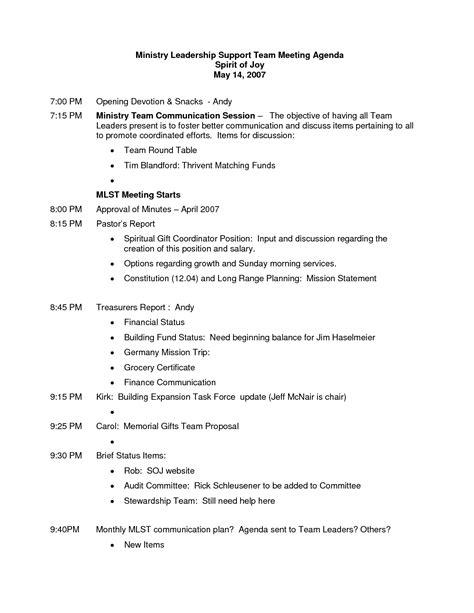 Church Leadership Outline best photos of meeting outlines for church sle church meeting agenda template strategic