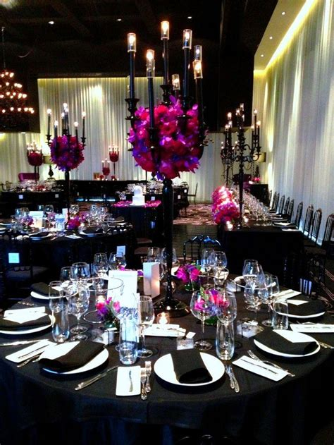 themed black tie events elegant dark purple and black wedding theme best 25