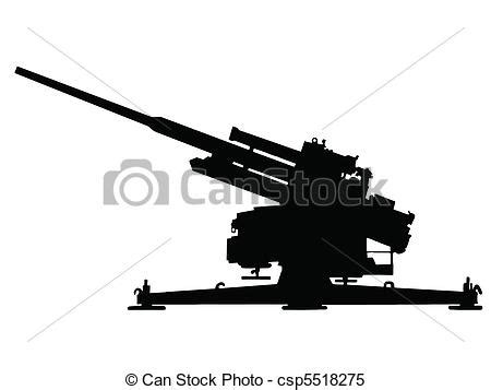 clipart vector of ww2 anti aircraft gun ww2 series