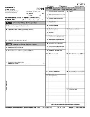 printable schedule k 1 2014 form irs 1120s schedule k 1 fill online printable