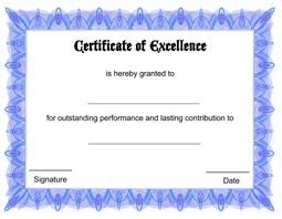 free printable certificate of excellence template free printable certificate of excellence template 49 free printable certificate template examples in pdf