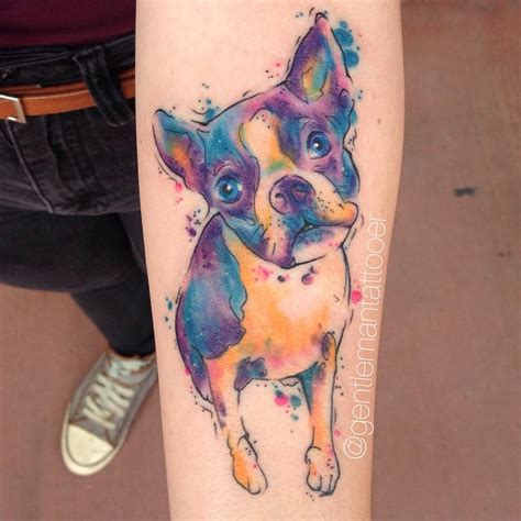 watercolor tattoos dog 15 watercolor tattoos to give you major ink spiration