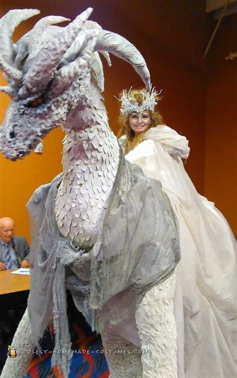 coolest recycled diy dragon princess costume  halloween