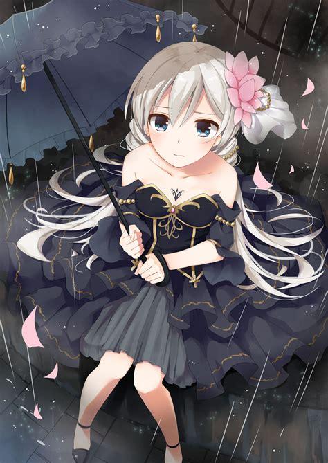 anime girl corset wallpaper anime art in the rain formal dress corset