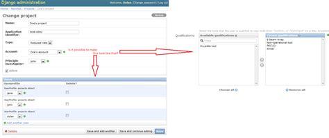 django tutorial user profile python django admin interface using horizontal filter