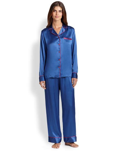 Pajamas Blue la perla dolce silk pajamas in blue lyst
