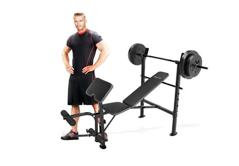 competitor weight bench with 80 pound weight set marcy competitor combo bench with 80 lbs weight set cb
