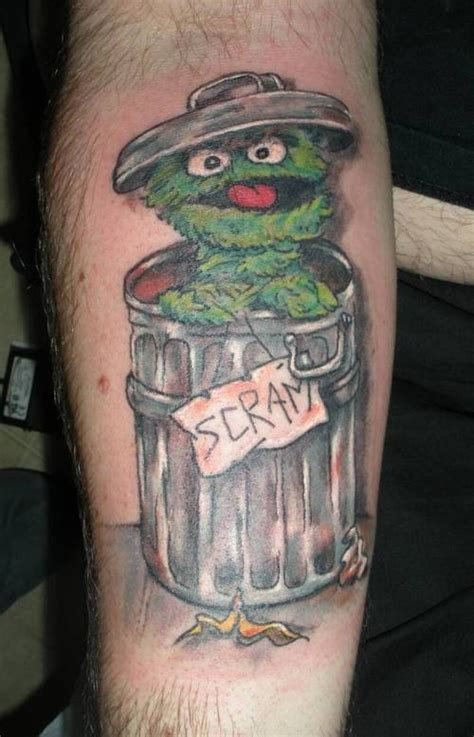 oscar tattoo sesame and the muppets tattoos the tattooed