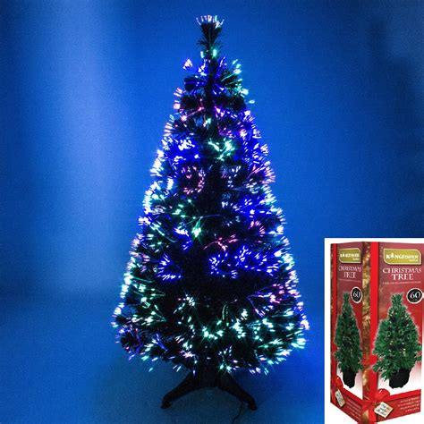 morrisons 6ft christmas tree green fibre optic tree colour changing 2ft 3ft 4ft 5ft 6ft tree ebay