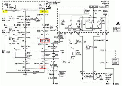 pontiac  fuel pump wiring diagram