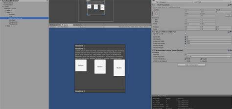 unity menu layout c unity accordion ui game development stack exchange