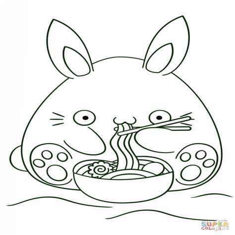 Dibujo De Conejo Kawaii Para Colorear Dibujos Para
