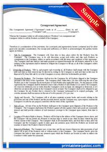 store terms and conditions template free printable consignment agreement form generic