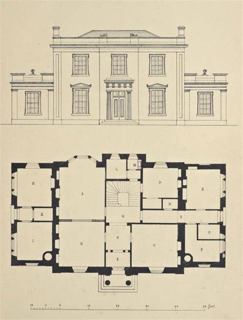 normandy manor house plan classic revival plans design for a country house england dwelling floor