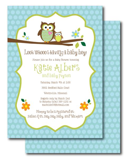 owl themed baby shower invitation template baby shower invitations owl theme theruntime