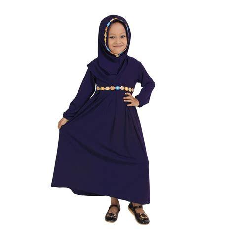 Gamis Anak Murah Meriah baju yuli gamis anak perempuan murah lucu navy blue elevenia