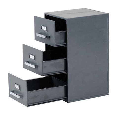 business card filing cabinet grey mini office storage