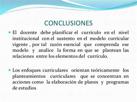 Modelo Curricular Vigente En España Enfoques Curriculares