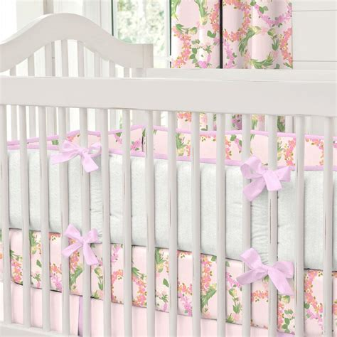 Flower Crib Bedding by Pink Floral Wreath Crib Bedding Carousel Designs