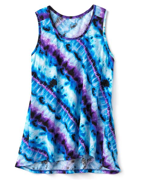 aqua racerback tie dye tank top sizes s xl