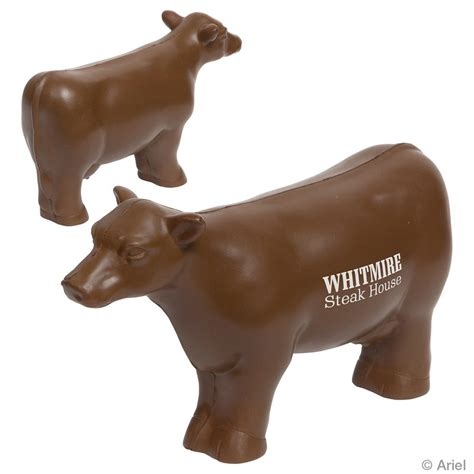 cow rubber st stress reliever beef cow with your logo minithrowballs