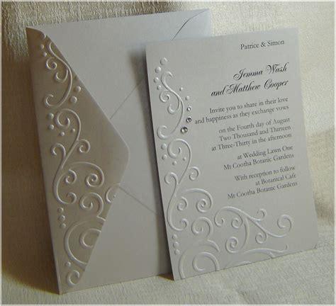Embossed Wedding Invitations by Handmade Embossed Wedding Invitations About Paper