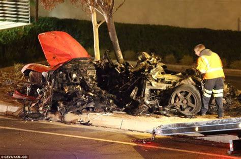 porsche blames driver in fatal paul walker car crash ny 100mph to blame for walker and rodas carrera gt crash