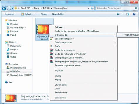 format audio nie jest obslugiwany kabel hdmi nie jest potrzebny filmy z sieci wi fi foto