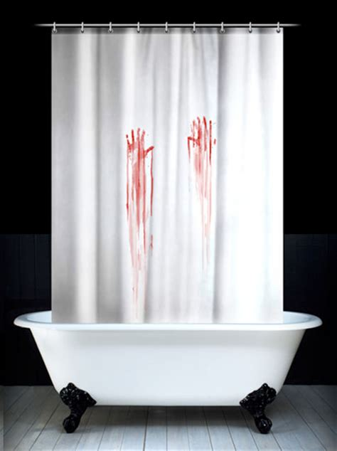 Psycho Shower Curtain by Martha Stewart Would Not Approve Of These Shower Curtains