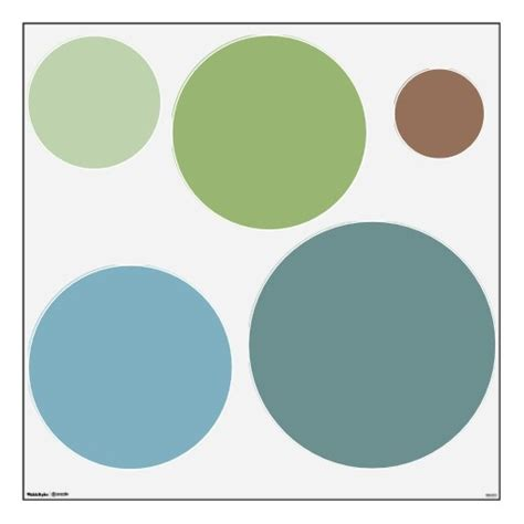 Benjamin Moore Charlotte Slate trendy soothing colors circles wall decals set dreaming