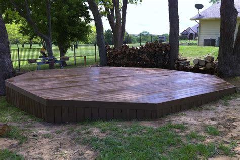 new backyards freestanding deck creates new backyard focal point for