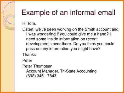email format informal 6 formal email exles financial statement form