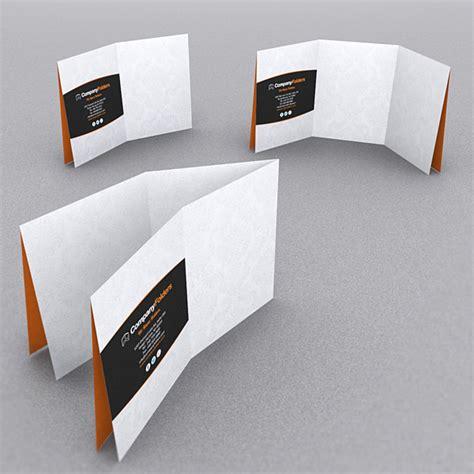 How To Fold Paper Like A Brochure - 9 stylish folder brochure folds for print designers