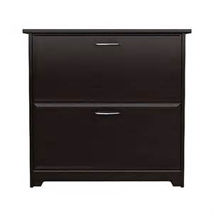 2 Drawer Lateral File Cabinets Bush Cabot 2 Drawer Lateral File Cabinet In Espresso Oak Wc31880 03
