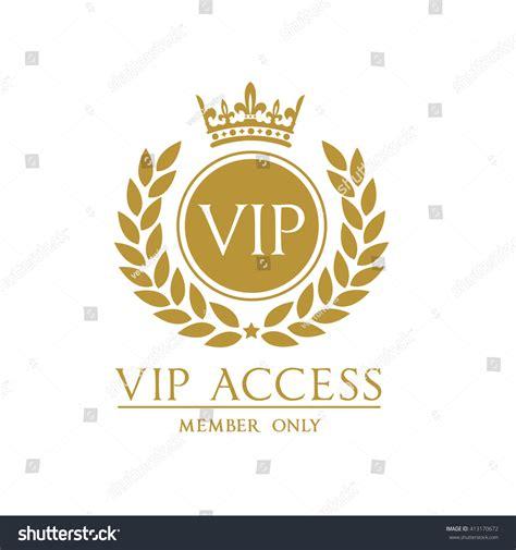 card with logo template vip access member logo card template vectores en stock