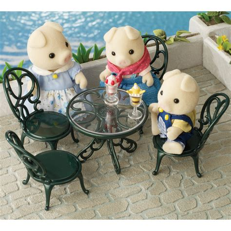 sylvanian families ornate garden tables chairs toys r