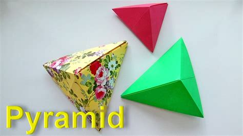 How To Make A 3d Pyramid Out Of Paper - origami pyramid versi on the spot