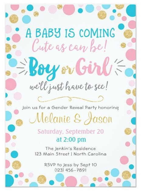 Baby Shower Gender Reveal Invitations by Gender Reveal Invitation Baby Shower Boy Or Gender