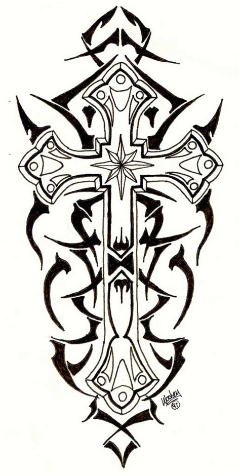 unique cross tattoo designs 8 tribal cross designs and stencils