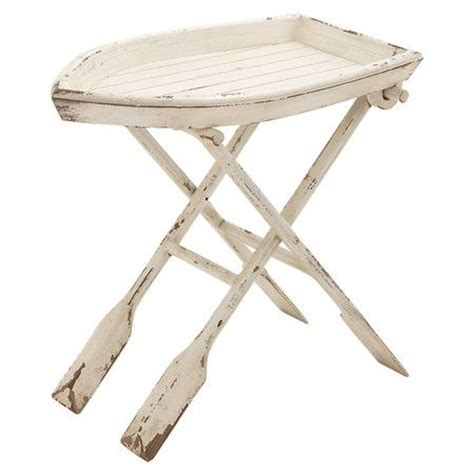 folding boat table top this boat shaped folding side table with a rope