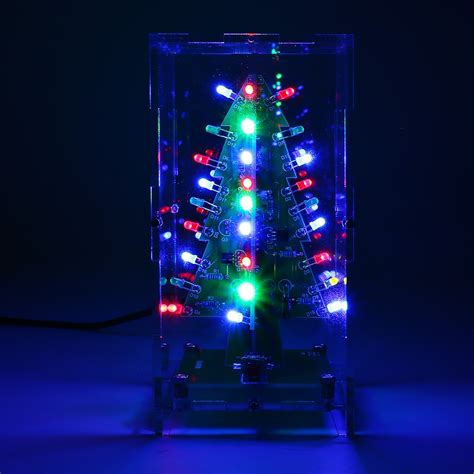 christmas tree led flash kit 3d diy electronic learning