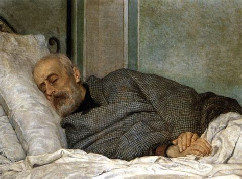 bed death giuseppe mazzini on his death bed by lega silvestro