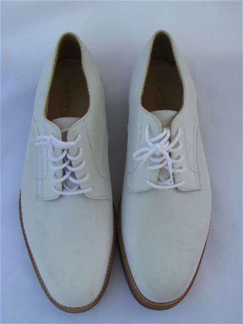 vintage orvis leather white bucks s size 12 shoes